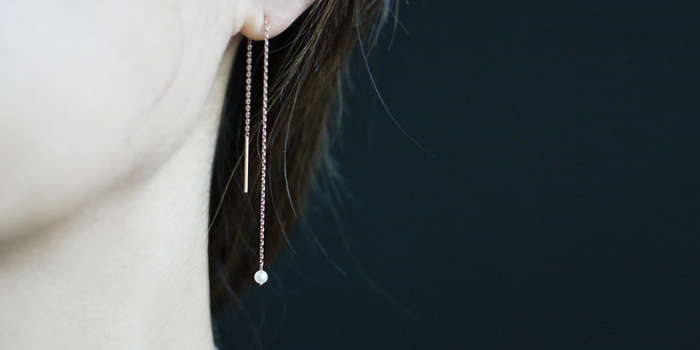 One Pearl Drop Earring