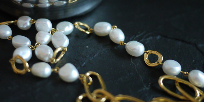 Pearl & Gold Chian Necklace