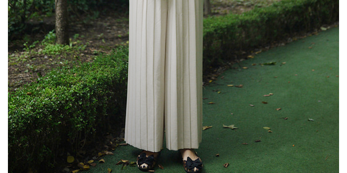 Wide Pleats Pants